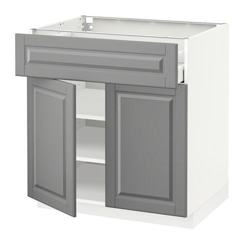 Metod maximera ab 2p c blanco bodbyn gris 80x60 cm for Amortiguador armario cocina