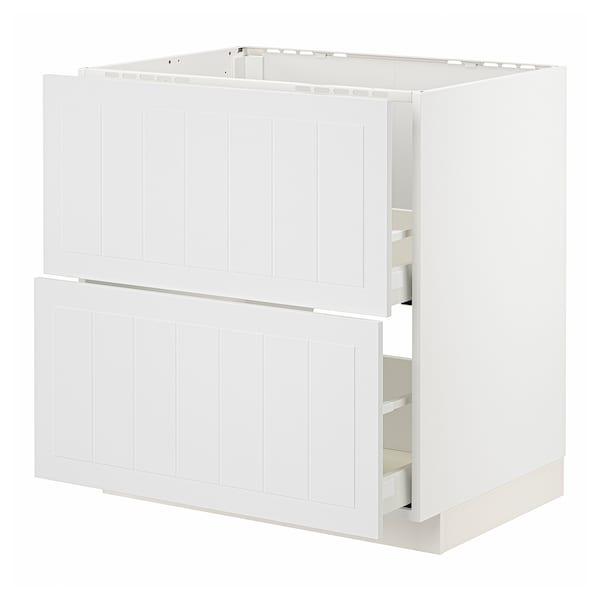 METOD / MAXIMERA Abjfreg2frt/2cj, blanco/Stensund blanco, 80x60 cm