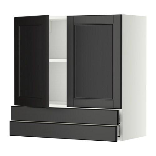 Metod maximera ap 2p 2c blanco laxarby negro marr n for Amortiguador armario cocina