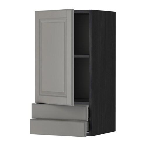 Metod maximera ap 1p 2c efecto madera negro bodbyn for Amortiguador armario cocina