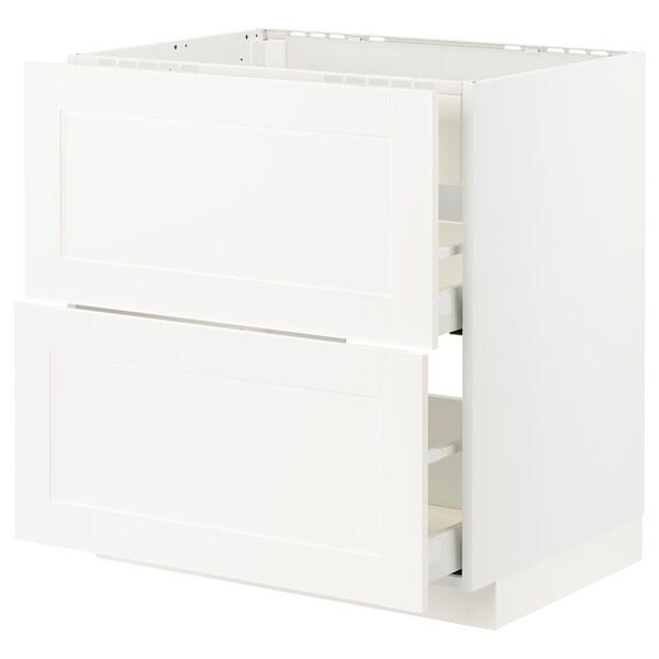 METOD / MAXIMERA Arm bj placa/extractr + cjn, blanco/Sävedal blanco, 80x60 cm