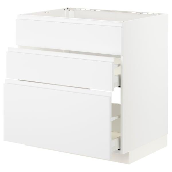 METOD / MAXIMERA Arm bj placa/extractr + cjn, blanco/Voxtorp blanco mate, 80x60 cm