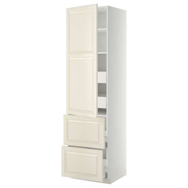 METOD / MAXIMERA Armario 4cajones+2frentes+pt+baldas, blanco/Bodbyn hueso, 60x60x220 cm