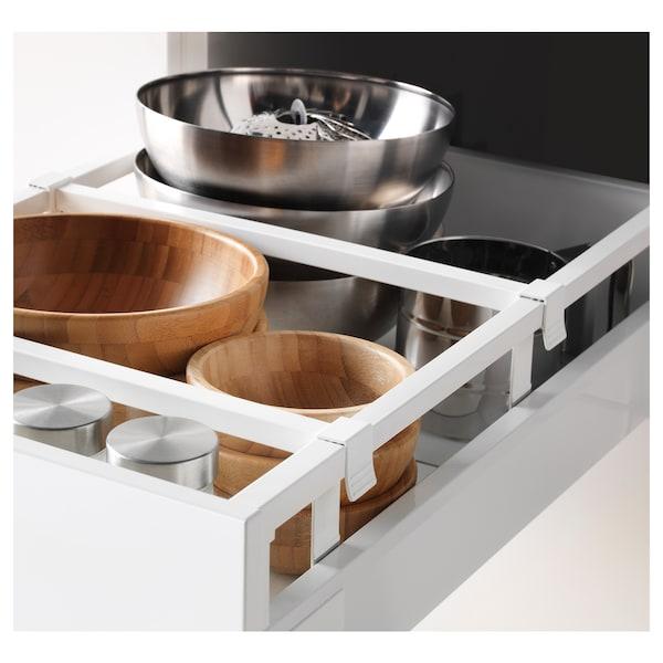 METOD / MAXIMERA Armario 4cajones+2frentes+pt+baldas, blanco/Ringhult blanco, 40x60x220 cm