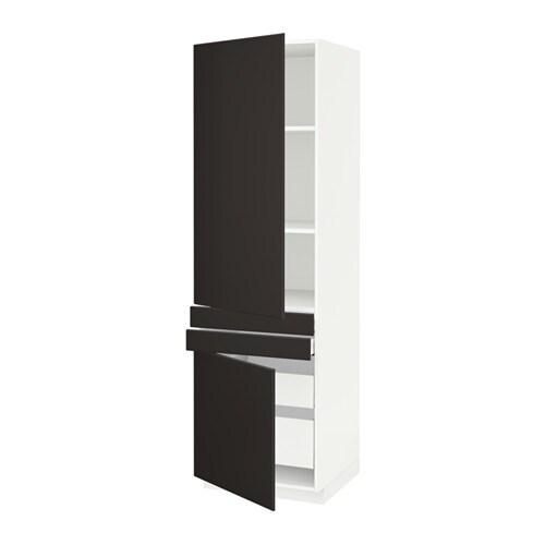 Metod maximera armario alto 2 puertas y 4 cajones for Armario 2 puertas ikea