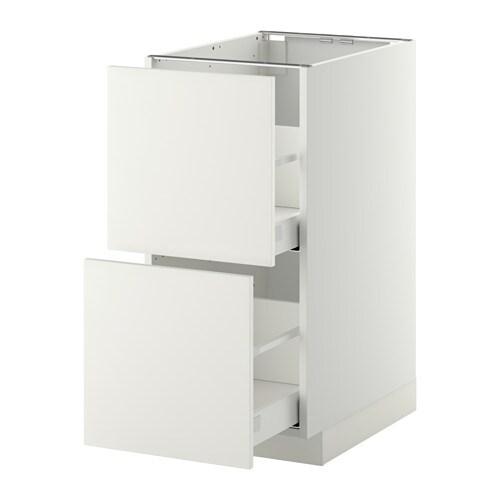Metod maximera armario bajo cocina 2 cajones blanco - Ikea cajones cocina ...