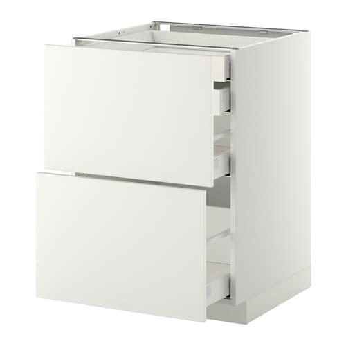 Metod maximera armario bajo cocina 4 cajones blanco - Ikea armarios cocina ...