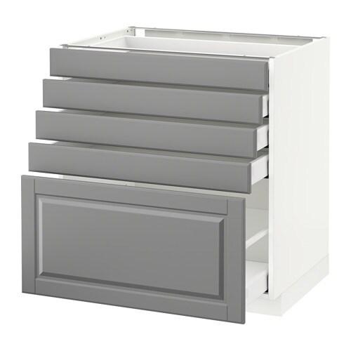 Metod maximera armario bajo cocina 5 cajones blanco for Cajones cocina ikea