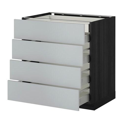Metod maximera armario bajo cocina 5 cajones efecto for Armarios bajos de cocina