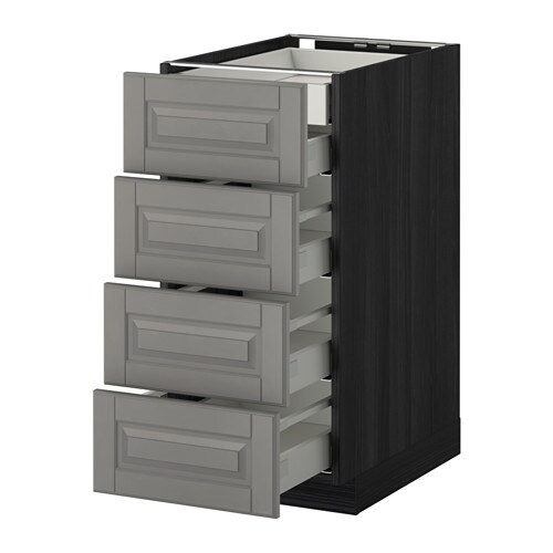 metod maximera armario bajo cocina 5 cajones efecto madera negro bodbyn gris 40x60 cm ikea. Black Bedroom Furniture Sets. Home Design Ideas