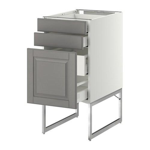 Metod maximera armario bajo cocina con cajones blanco for Cajones cocina ikea
