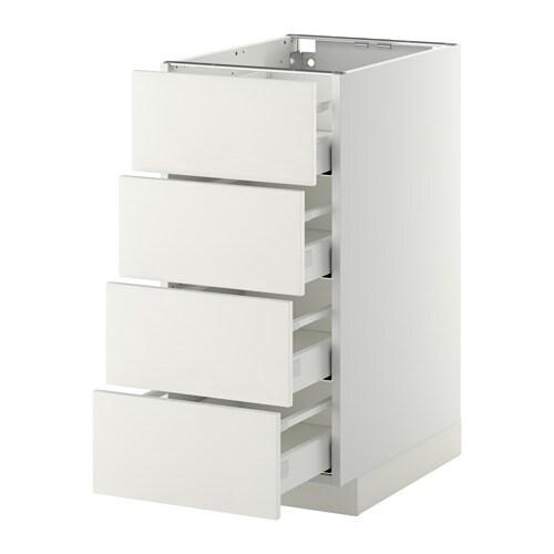 Metod maximera armario bajo cocina con 4 cajones for Cajones cocina ikea