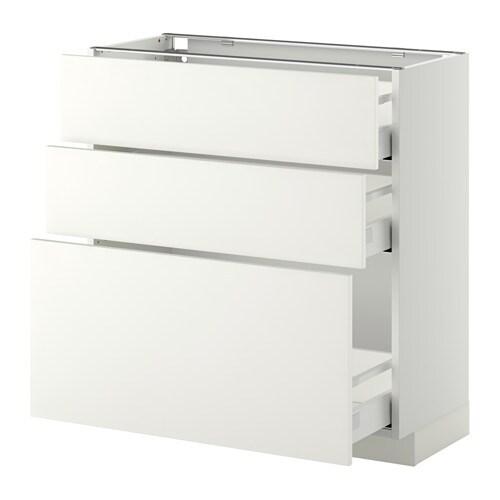 Metod maximera armario bajo cocina con 3 cajones 80x37 - Cocina armario ikea ...