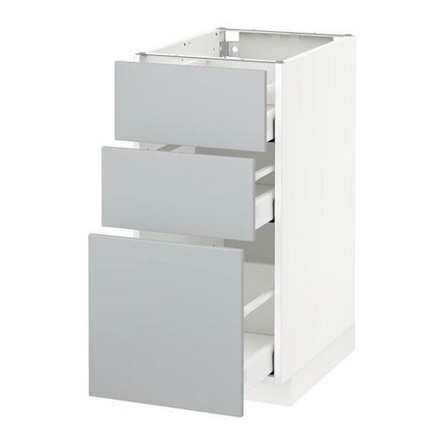 Metod maximera armario bajo cocina con 3 cajones for Cajones cocina ikea