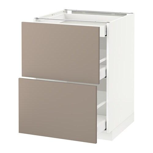 Metod maximera armario bajo cocina con 3 cajones for Ikea muebles cocina bajos