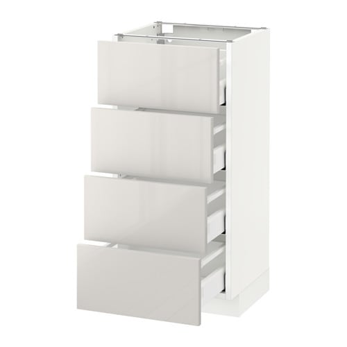 Metod maximera armario bajo cocina con 4 cajones for Ikea armarios cocina altos