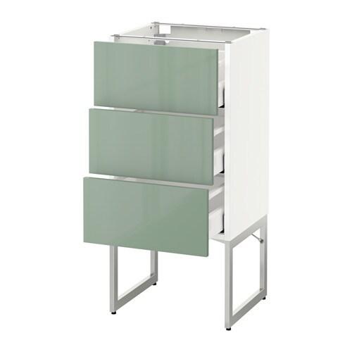 Metod maximera armario bajo cocina con 3 cajones for Ikea armarios cocina altos