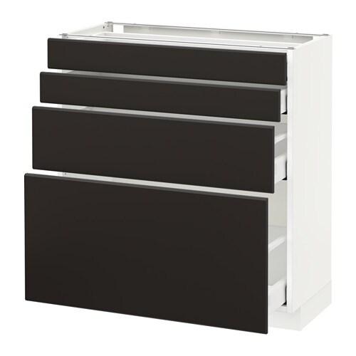 Metod maximera armario bajo cocina con 4 cajones for Armarios bajos de cocina