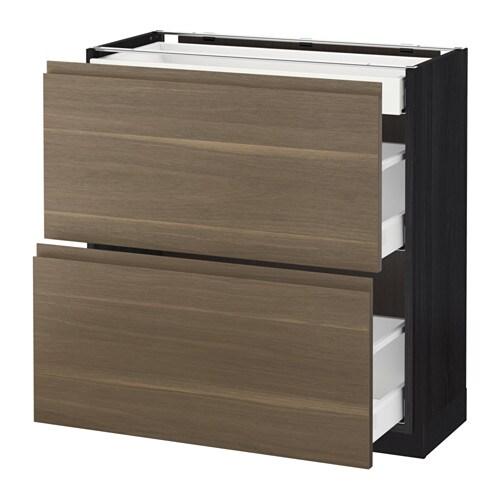 Metod maximera armario bajo cocina con 3 cajones 80x37 - Cajones de cocina ikea ...