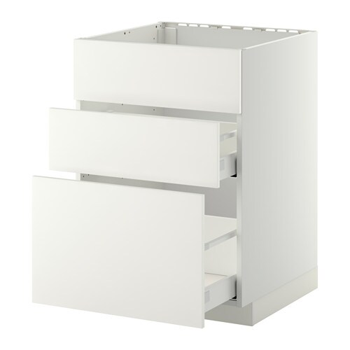 Metod maximera armario bajo fregadero 2 cajones blanco for Organizador bajo fregadero ikea