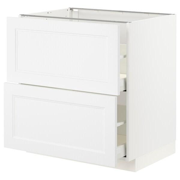 METOD / MAXIMERA abj2frt/2cj blanco/Axstad blanco mate 80.0 cm 61.6 cm 88.0 cm 60.0 cm 80.0 cm