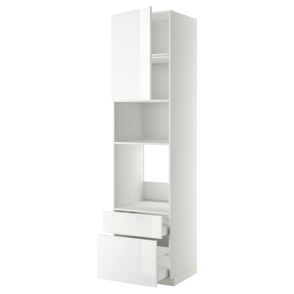 METOD / MAXIMERA aahorno/micro+pt/2cj blanco/Ringhult blanco 60 cm 61.8 cm 248 cm 60 cm 240 cm