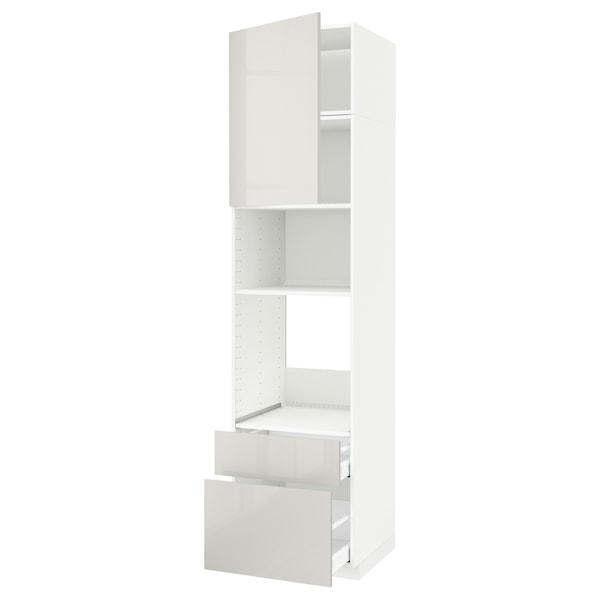 METOD / MAXIMERA aahorno/micro+pt/2cj blanco/Ringhult gris claro 60 cm 61.8 cm 248 cm 60 cm 240 cm