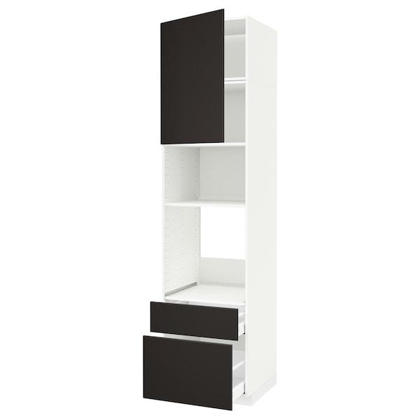 METOD / MAXIMERA aahorno/micro+pt/2cj blanco/Kungsbacka antracita 60 cm 61.6 cm 248 cm 60 cm 240 cm