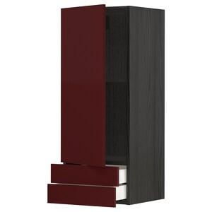 Frente: Kallarp alto brillo marrón rojizo oscuro.