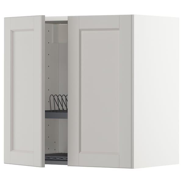 METOD aprd+escurreplt/2pt blanco/Lerhyttan gris claro 60.0 cm 38.6 cm 60.0 cm