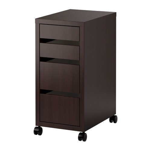 micke cajonera con ruedas negro marr n ikea. Black Bedroom Furniture Sets. Home Design Ideas