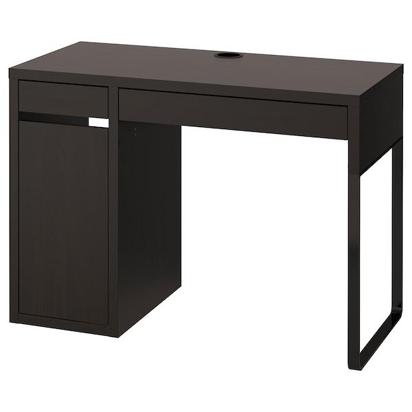 MICKE Escritorio, negro-marrón, 105x50 cm