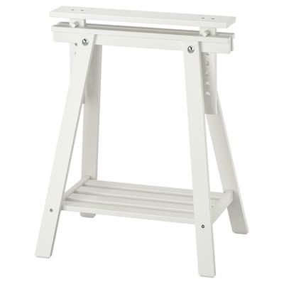 MITTBACK Caballete, blanco madera maciza, 58x70/93 cm