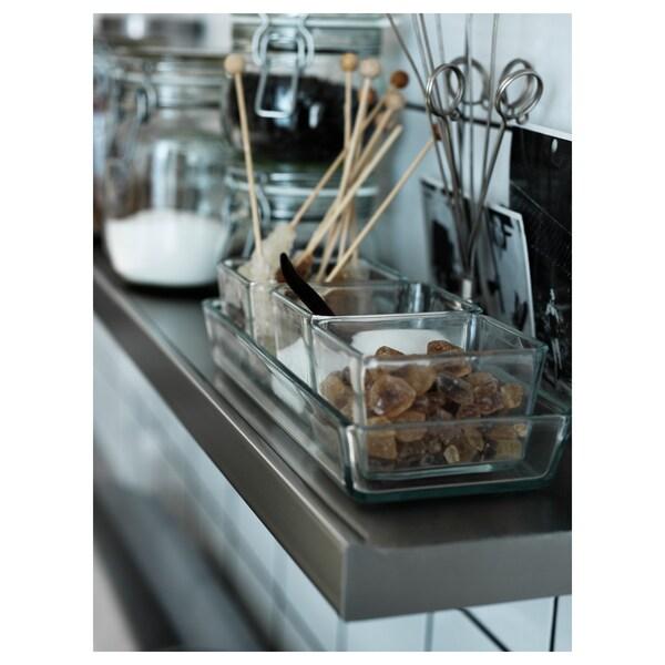 MIXTUR Fuente horno/servir juego 4, vidrio incoloro