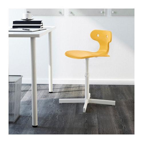Molte silla de escritorio amarillo ikea for Silla escritorio comoda
