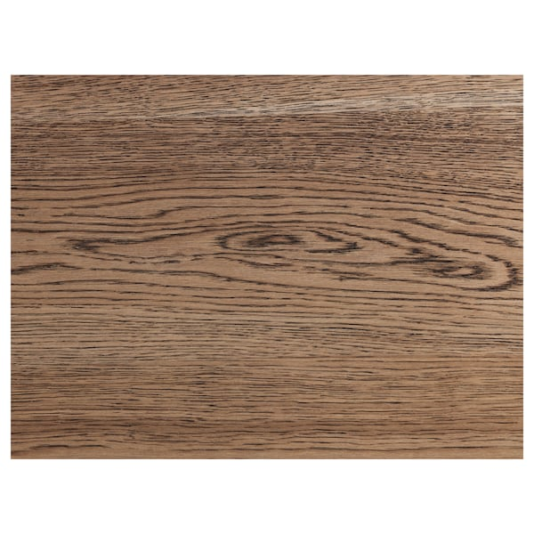 MÖRBYLÅNGA Mesa, chapa roble tinte marrón, 140x85 cm