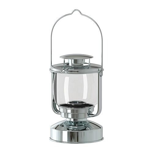 MÖRKT Farolillo para vela pequeña IKEA Adecuado para usar tanto en interiores como en exteriores.