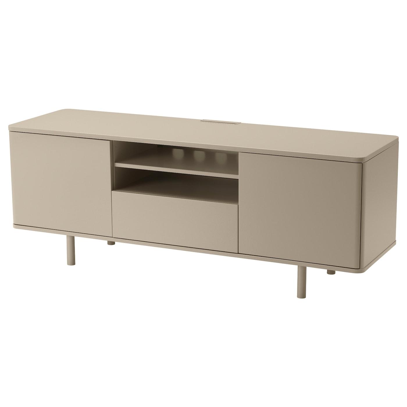 Mostorp mueble tv alto brillo beige 160 x 47 x 60 cm ikea for Mueble tv ikea