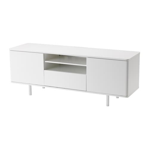 Mostorp mueble tv alto brillo blanco ikea for Envejecer mueble blanco ikea