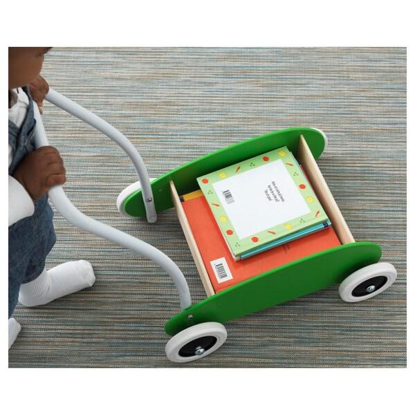 MULA Andador para bebé, verde/abedul