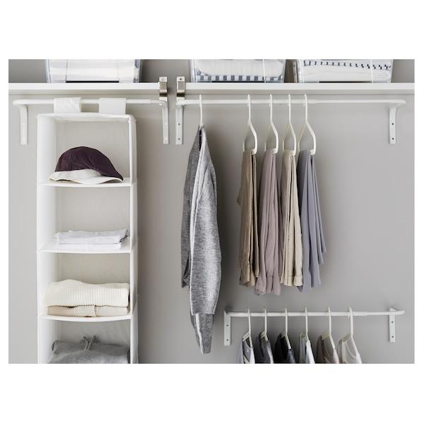 MULIG Barra para ropa, blanco, 60-90 cm