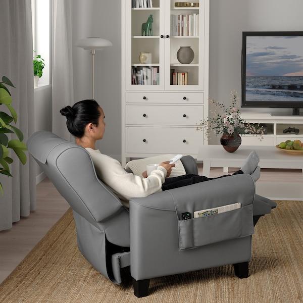 MUREN Sillón relax reclinable, Remmarn gris claro