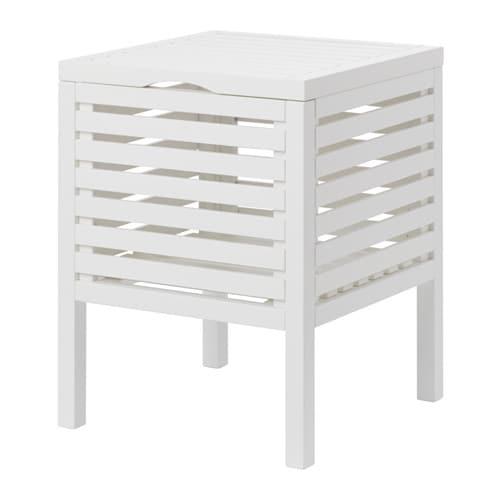 Muskan asiento con almacenaje blanco 50 cm ikea - Muebles almacenaje bano ...