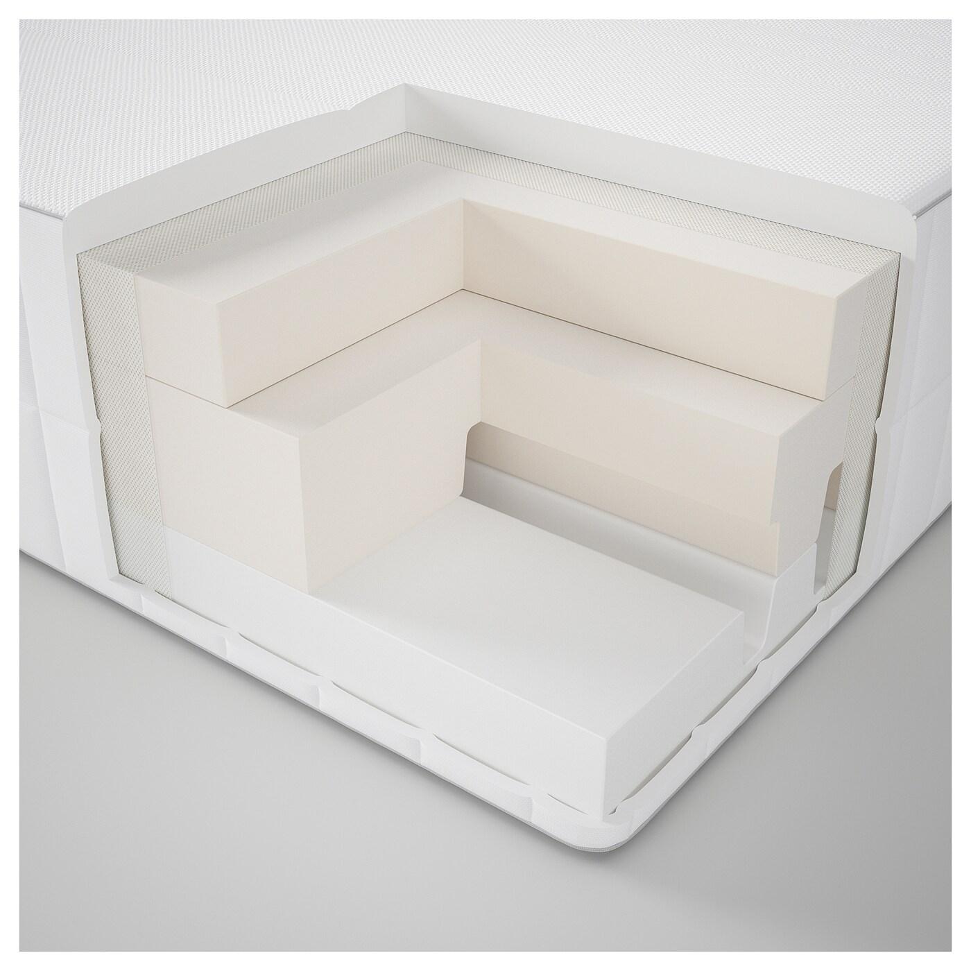 Myrbacka colch n espuma viscoel stica firme blanco 160 x for Sobre colchon ikea
