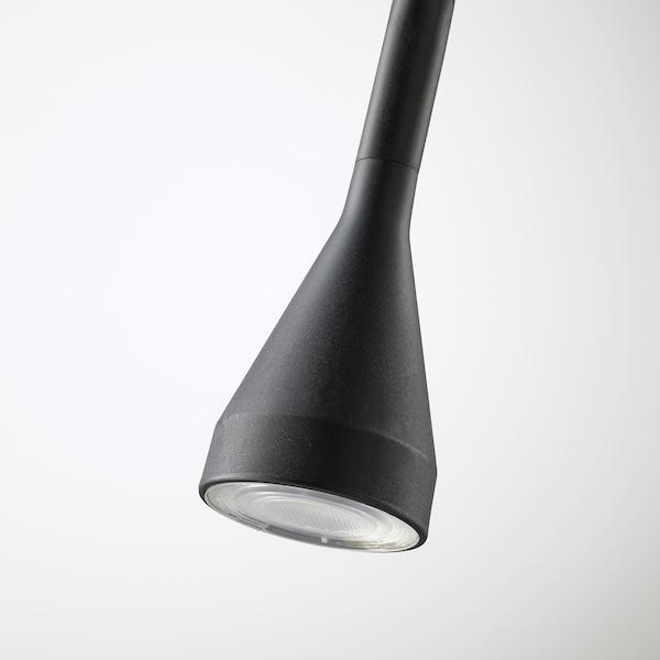 NÄVLINGE foco pinza/pared negro 220 lm 63 cm 2.0 m 1.9 W 25000 hr