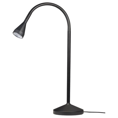 NÄVLINGE lámpara trabajo negro 220 lm 66 cm 52 cm 12 cm 5 cm 2.0 m 1.9 W 25000 hr