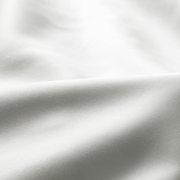 NATTJASMIN Sábana bajera ajustable, blanco, 160x200 cm