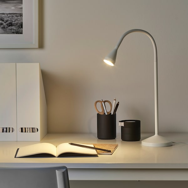 NÄVLINGE Lámpara trabajo, blanco