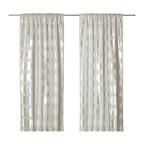 Ninni rund cortina 1par ikea for Tende dalani