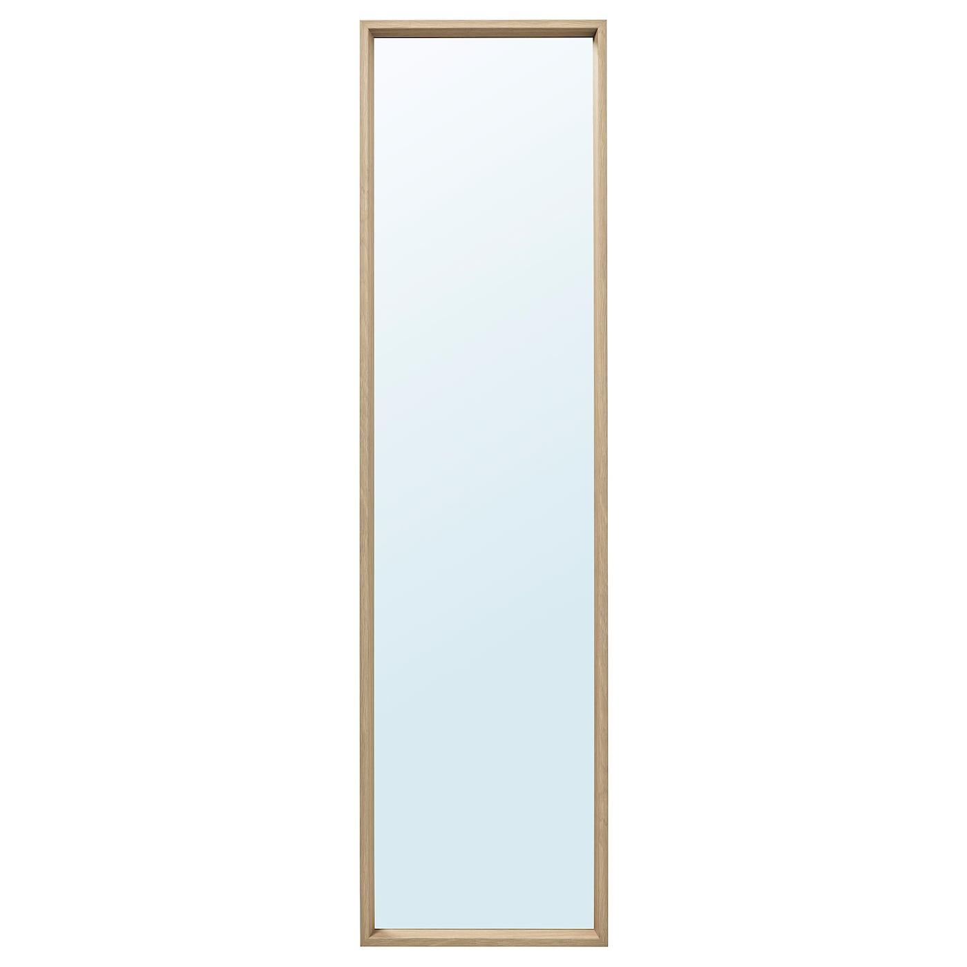 Espejo, efecto roble tinte blanco